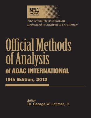 Official Methods of Analysis of AOAC International, 19th Edition